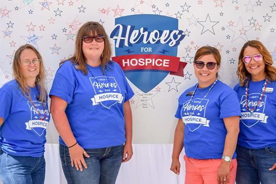 Heroes for Hospice volunteers