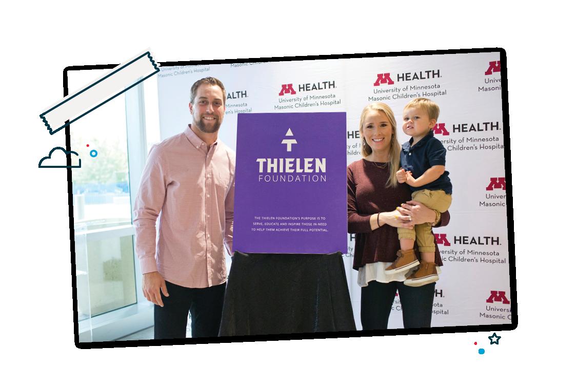 Thielen family supporting Thielen Foundation