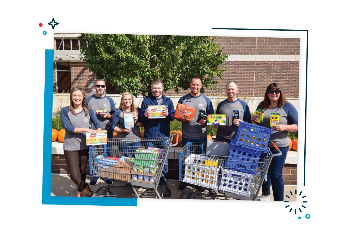 Employees giving back to their community