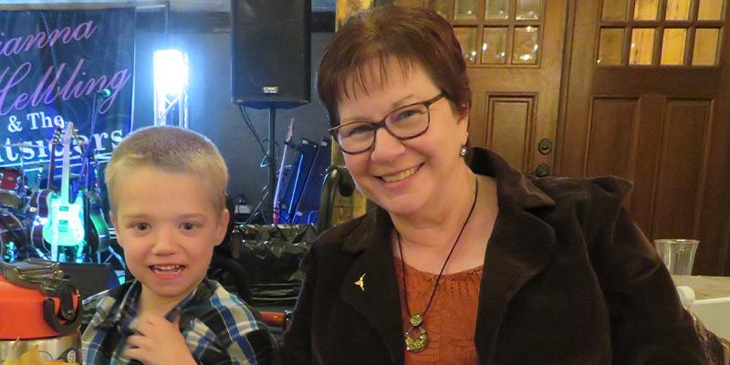 Young boy and his grandma