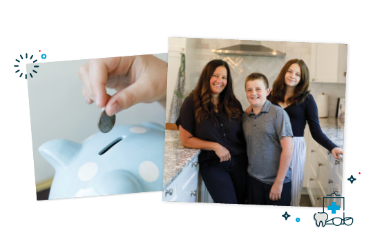 Family posing in their new kitchen.