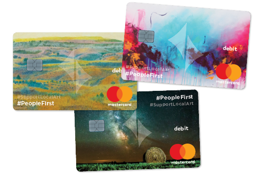 Support local art credit card options.