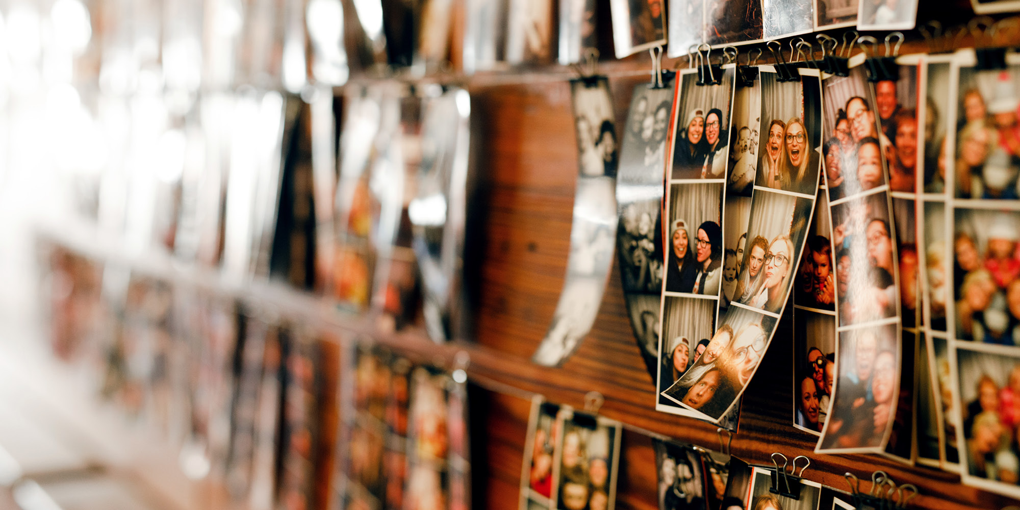 Gallery of polaroid photos.