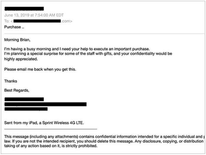 Spear Phishing Example.